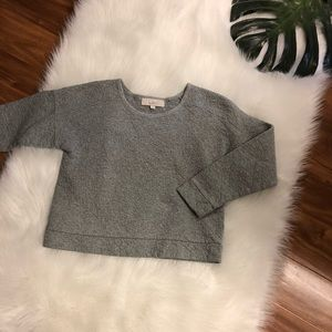 LOFT Quilted Top Sweatshirt Size Small